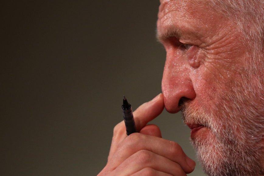 Jungtinės Karalystės Leiboristų partijos lyderis Jeremy Corbynas
