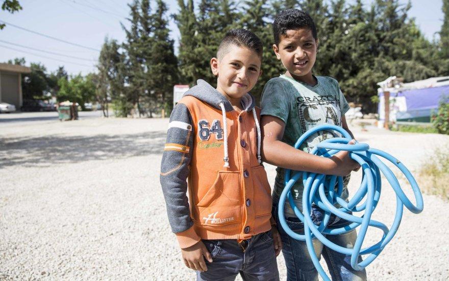 Vaikai pabėgėlių stovykloje