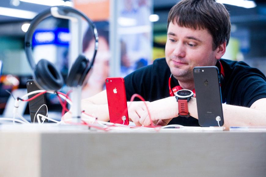 Raudonas iPhone
