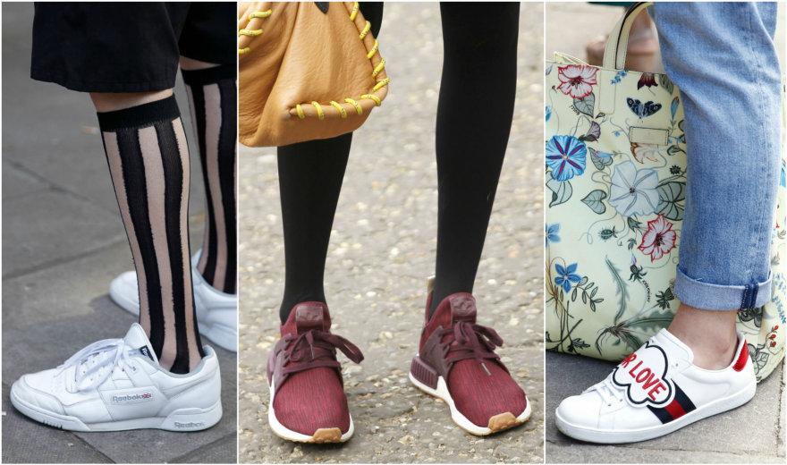 Gatvės stilius: sportiniai bateliai