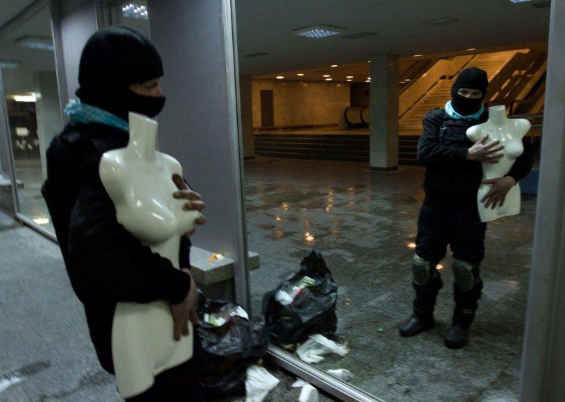 Ukrainos rūmų vidus po šturmo