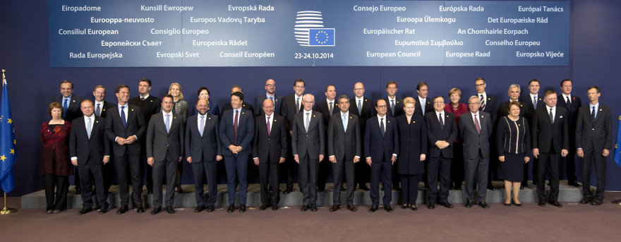 Lietuvos prezidentė Dalia Grybauskaitė dalyvauja Europos Vadovų Tarybos susitikime.