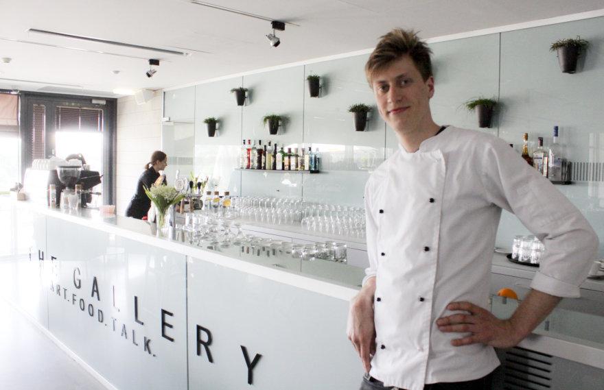 """""""The Gallery"""" virtuvės šefas Aurimas Labanauskas"""