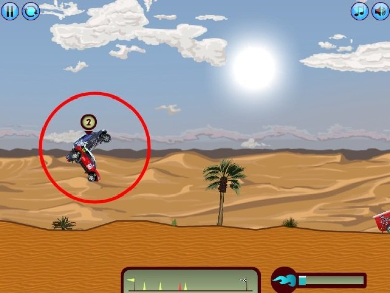 """""""Dakar Racing"""" žaidimas"""