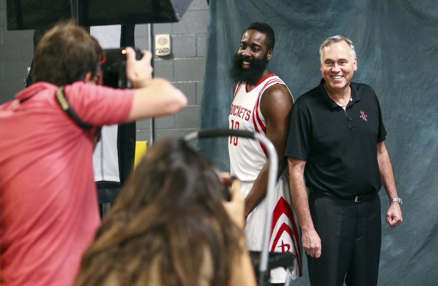 Jamesas Hardenas ir Mike'as D'Antoni