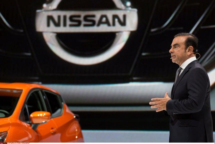 """""""Nissan"""" vadovas Carlosas Ghosnas"""