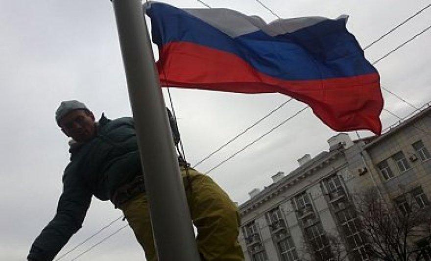 Prie Charkovo savivaldybės iškelta Rusijos vėliava