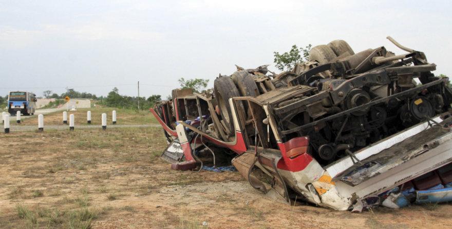 Autobuso avarija Mianmare