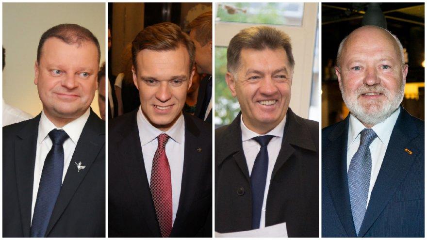 Saulius Skvernelis, Gabrielius Landsbergis, Algirdas Butkevičius, Eugenijus Gentvilas
