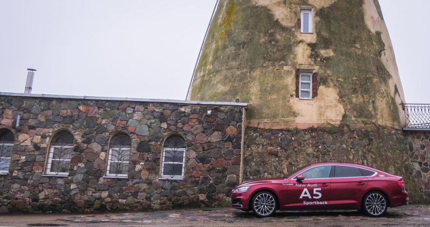 "Šeduvos malūnas ir ""Audi A5 Sportback"""
