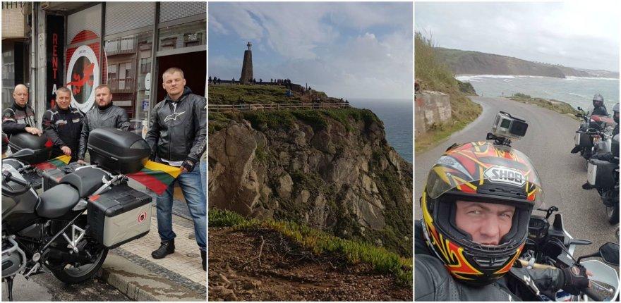 Draugų kelionė motociklais per Portugaliją