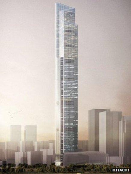 Greičiausio pasaulyje lifto koncepcija