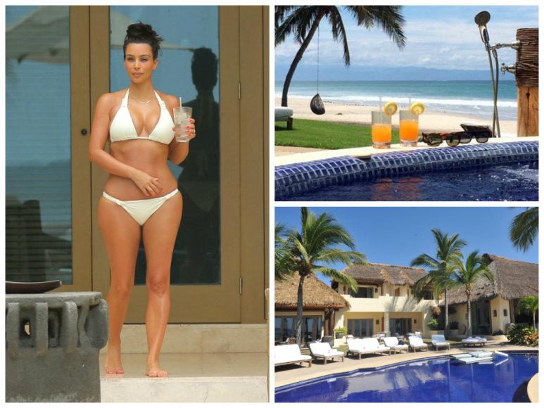 Kim Kardashian medaus mėnuo Meksikoje