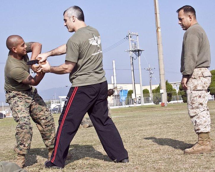JAV kariai taip pat mokomi šio kovos meno