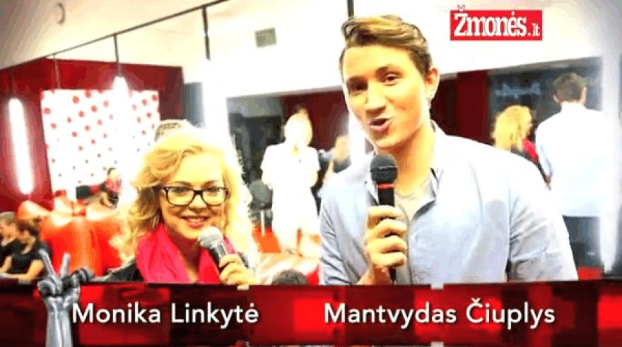 """Monika Linkytė išmėgino jėgas """"Lietuvos balso"""" reporterės kėdėje"""
