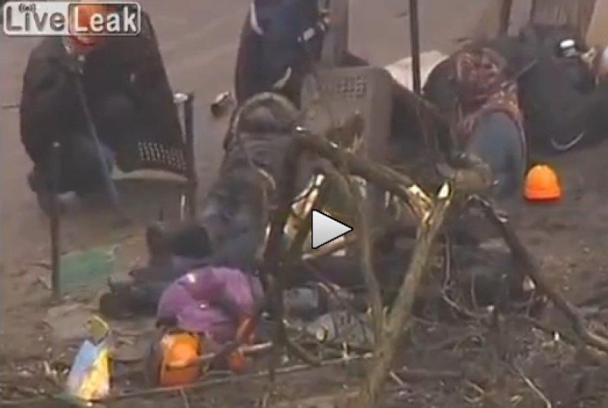 Live Leak vaizdai iš Kijevo