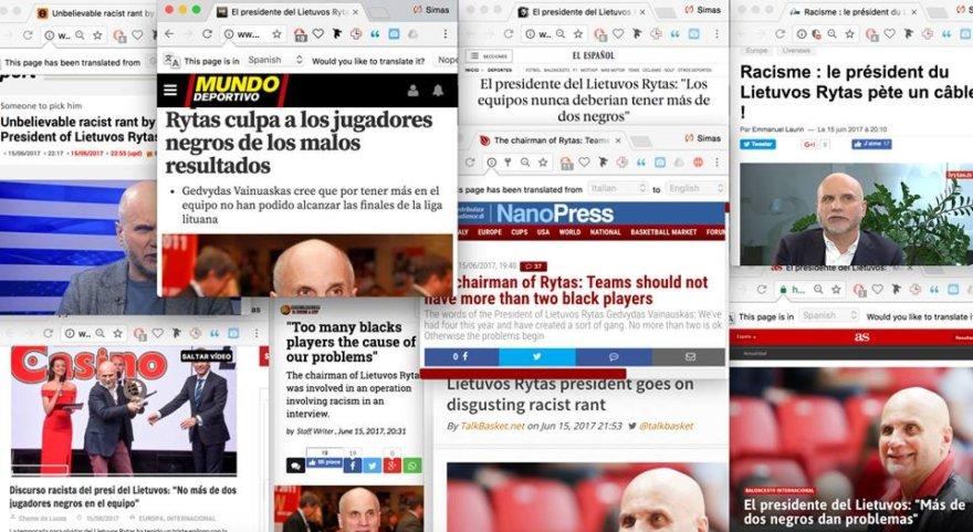 G.Vainausko pareiškimas mirgėjo Europos žiniasklaidoje