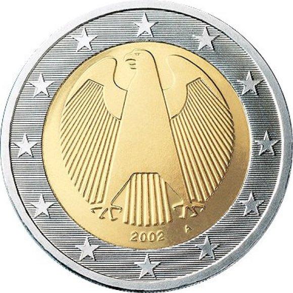 Vokiška dviejų eurų moneta