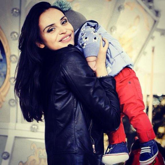 Ieva Mackevičienė su sūnumi Motiejum