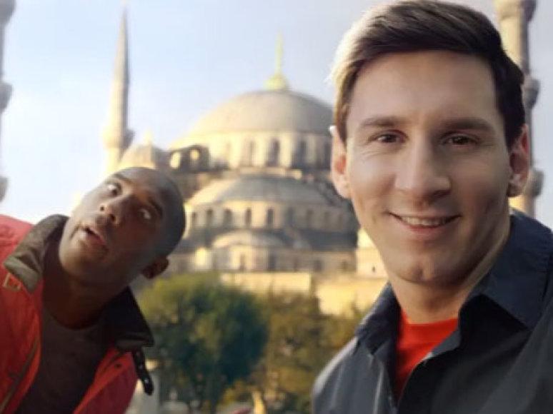Kobe Bryantas ir Lionelis Messi