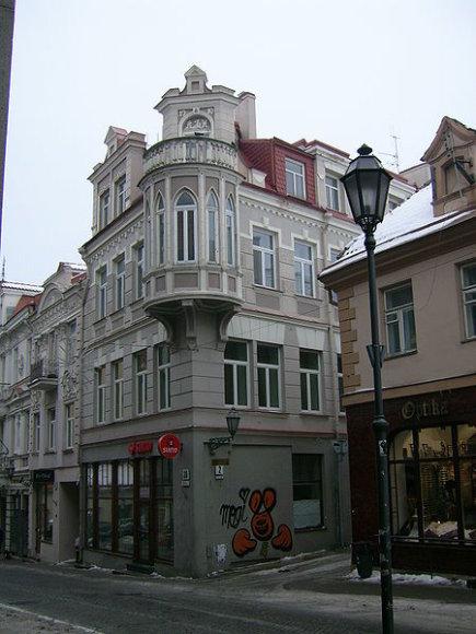 Šiame Pilies gatvės pastate XVII a. patalpas nuomojosi Chirurgų - barzdaskučių cechas