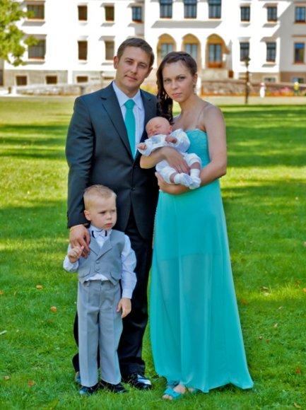 Tatjana ir Marius su vaikais Dovydu bei Luku
