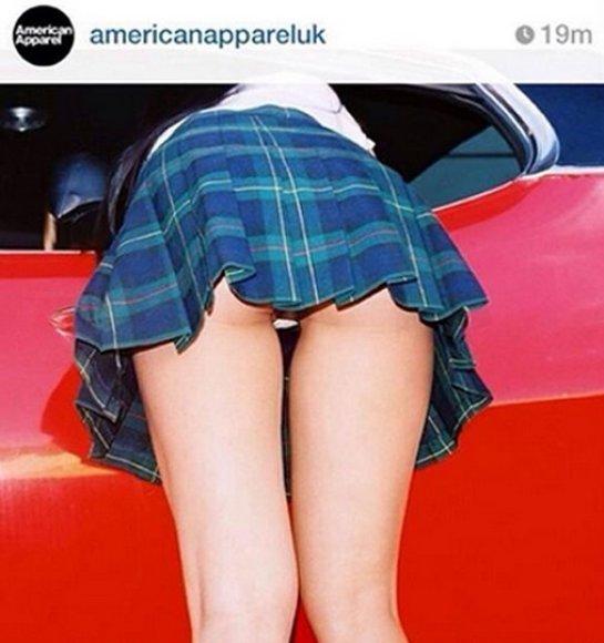 """""""American Apparel"""" """"Instagram"""" paskyroje publikuota nuotrauka"""