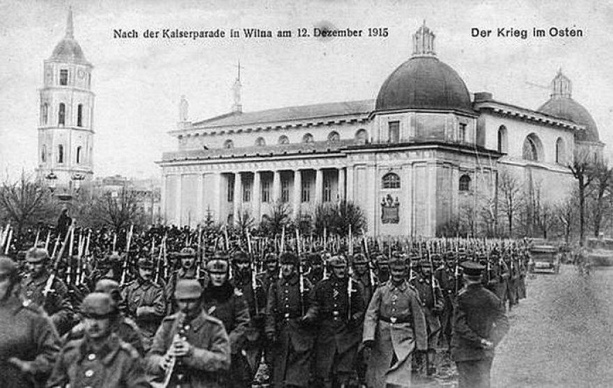 Kaizerinės kariuomenės paradas Vilniuje 1915 metais