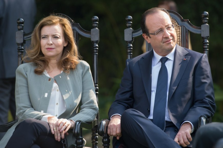 Valerie Trierweiler ir Francois Hollande'as