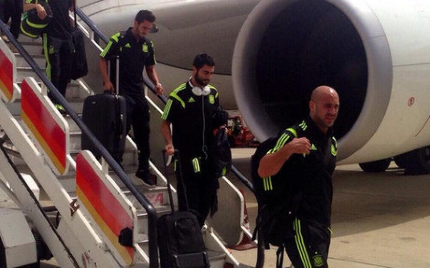 Ispanijos futbolo rinktinė sugrįžo namo