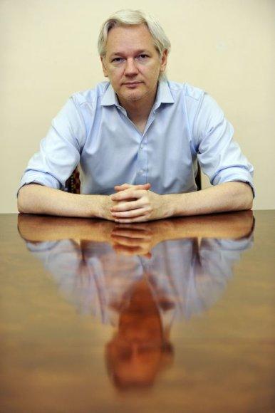 """WikiLeaks"" įkūrėjas Julianas Assange'as"