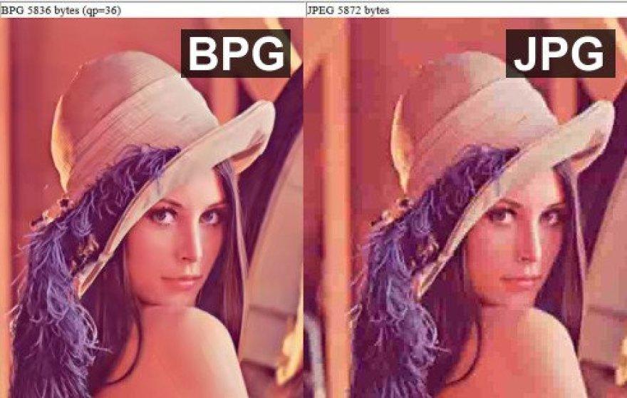 BPG ir JPEG formatų palyginimas
