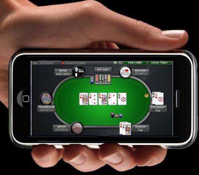 """Pokerstars"" mobilioji programėlė"