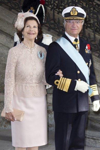 Švedijos karalius Carlas XVI Gustafas ir karalienė Silvia