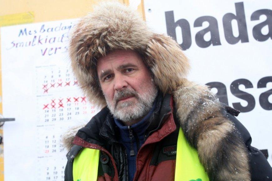 Prie Seimo 41 dieną badavęs E.Šablinskas neteko daug jėgų, bet ryžto nepraranda.