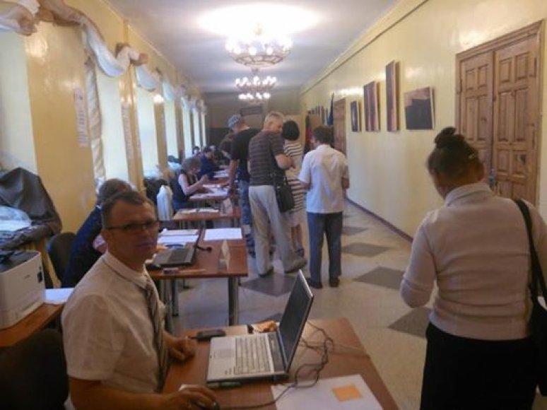 Balsavimas Lazdijų mieste