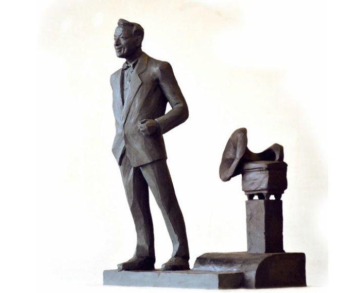 Vienas iš siūlomų variantų – S.Povilaičio paminklas su gramofonu.