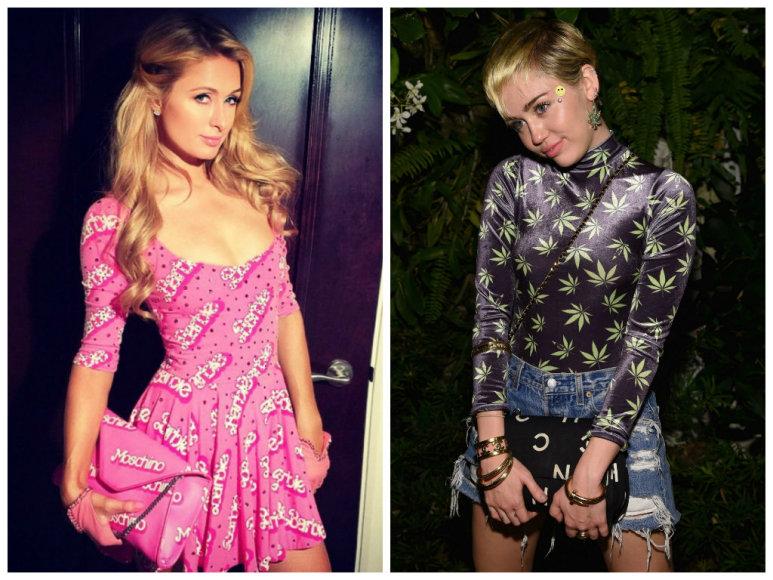 Paris Hilton ir Miley Cyrus
