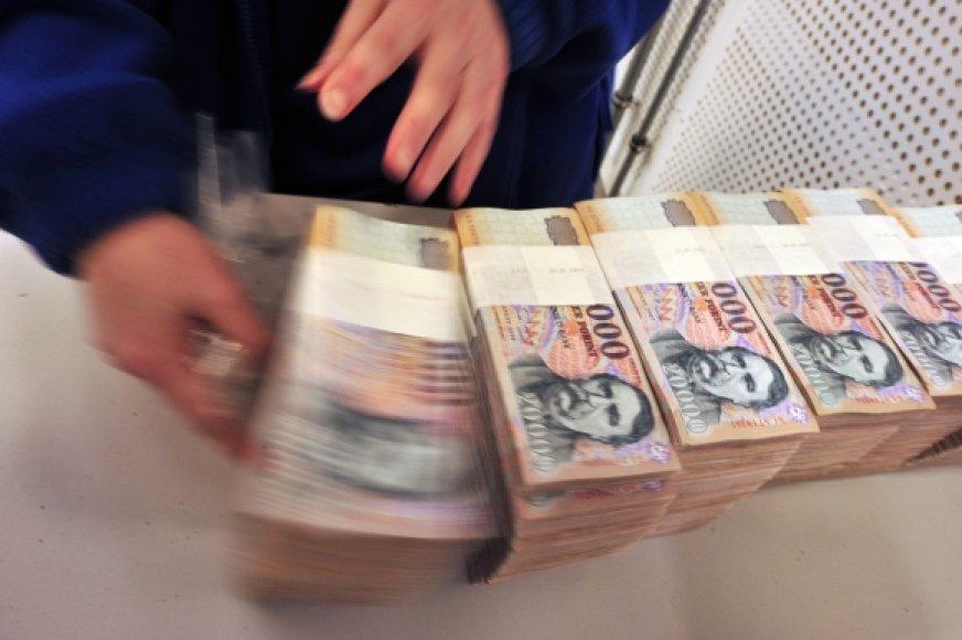 Centrinis bankas nebenaudojamus banknotus briketais verčia jau ketverius metus.
