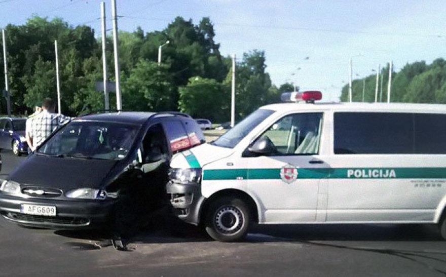 Policijos avarija Kaune