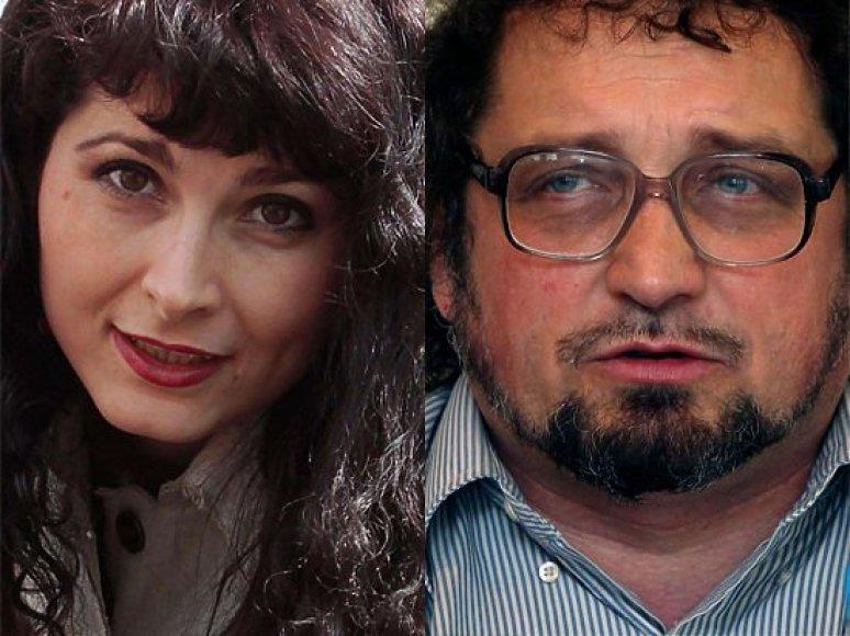 """""""Moskovskij komsomolec"""" žurnalistai, žmogaus teisių stebėtojai Eva Merkačiova ir Andrejus Bubuškinas"""