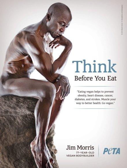 Jimas Morrisas PETA reklamoje