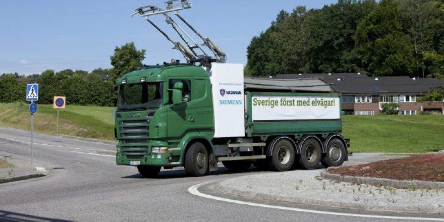 """Elektra varomas """"Scania"""" sunkvežimis"""