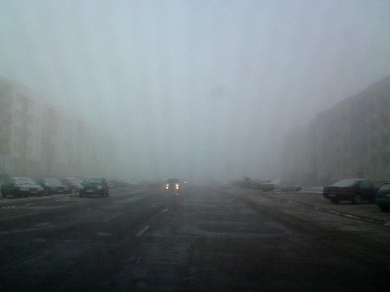 Rytinis rūkas Vilniuje