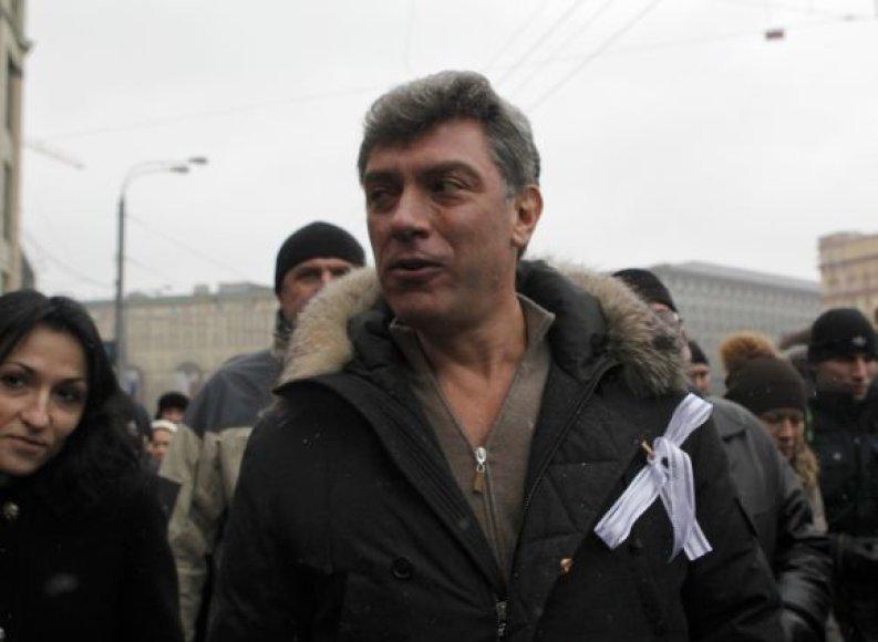 Maskva ruošiasi rekordiniam šeštadienio mitingui. Borisas Nemcovas