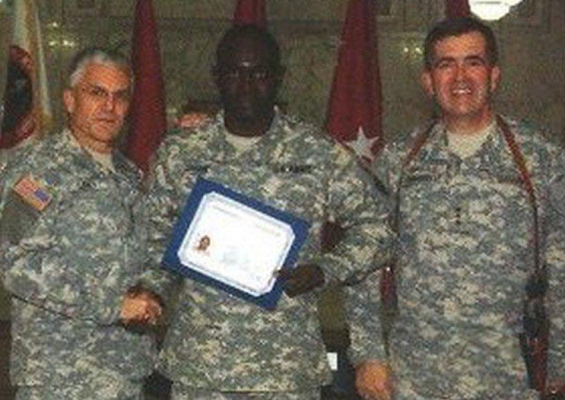 N.Jagne su svarbiais JAV karo vadais - generolu George'u W. Casey ir generolu leitenantu Peteriu Chiarelli