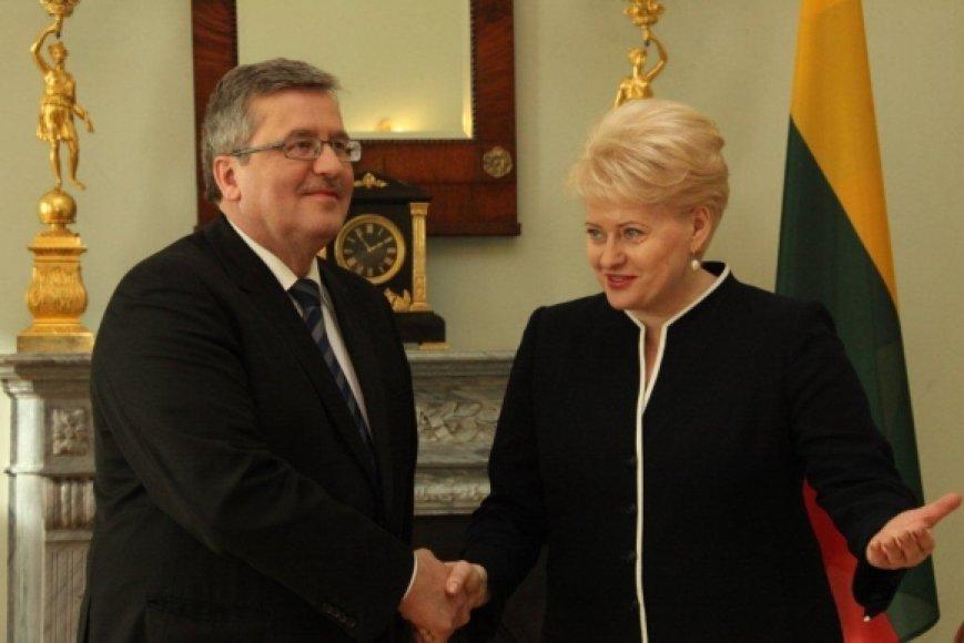 Dalia Grybauskaitė ir Bronislavas Komorovskis