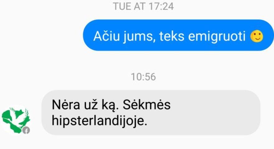 """Susirašinėjimas su LVŽS """"Facebook"""" puslapio administratoriumi"""