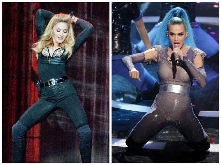 Madonna ir Katy Perry