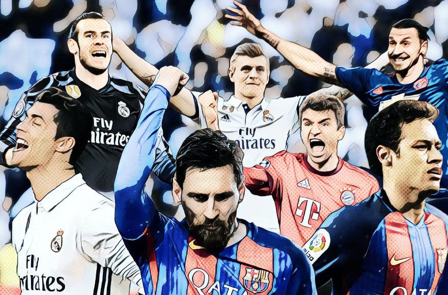 Daugiausiai uždirbantys pasaulio futbolininkai